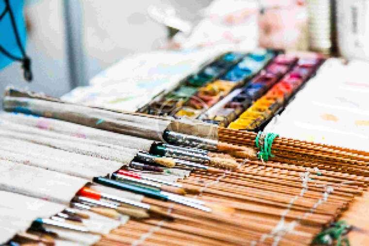 Caja de pinceles para pintar
